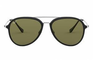 Ray-Ban Rb4298 Silver, Polarized Green Lenses - RB4298