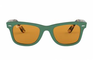 Ray-Ban Wayfarer Pop Tortoise, Polarized Yellow Lenses - RB2140