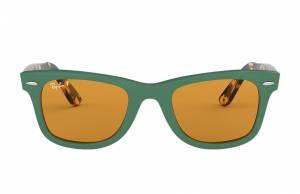 Ray-Ban Wayfarer Pop Tortoise, Polarized Yellow Lenses - RB2140