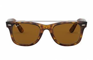 Ray-Ban Wayfarer Double Bridge Tortoise, Polarized Brown Lenses - RB4540