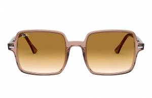 Ray-Ban Square II Brown Havana, Brown Lenses - RB1973