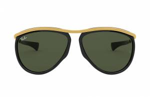 Ray-Ban Aviator Olympian Gold, Green Lenses - RB2219
