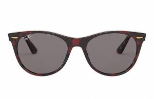 Ray-Ban Wayfarer II @collection Transparent Red, Grey Lenses - RB2185