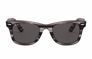 Ray-Ban Wayfarer Ease Striped Grey Havana, Grey Lenses - RB4340