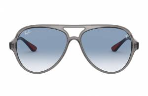 Ray-Ban Rb4125m Scuderia Ferrari Collection Grey, Blue Lenses - RB4125M