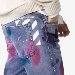 "Off-White Men's Jeans ""Paint Splatter"""
