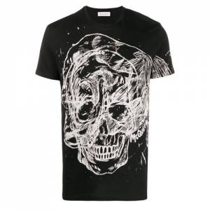"Alexander McQueen T-Shirt ""Abstract Skull"""