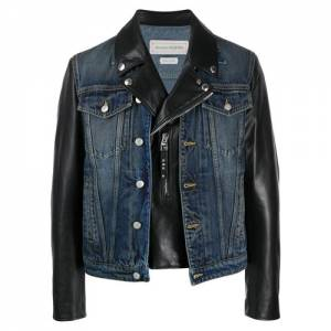 "Alexander McQueen Men's Jacket ""Denim Biker"""