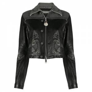 "Diesel Women's Leather Jacket ""Hybrid"""