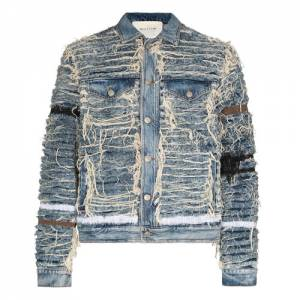 "1017 ALYX 9SM Men's Denim Jacket ""Shredded Blackmeans"""
