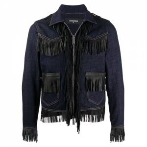 "Dsquared2 Men's Denim Jacket ""Fringe"""