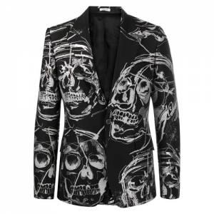 """Alexander McQueen Men's Jacket """"Skulls Blazer"""""""