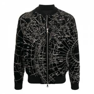 "Balmain Men's Bomber Jacket ""Map"""