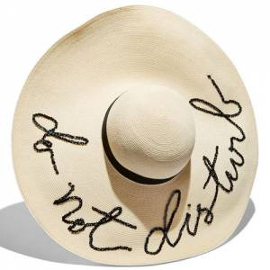 "Eugenia Kim Sun Hat ""Do Not Disturb"""