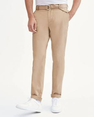 7 For All Mankind Belted Trouser in Beige