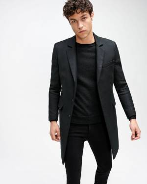 7 For All Mankind Topcoat in Black