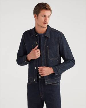 7 For All Mankind Modern Trucker Jacket in Rinse