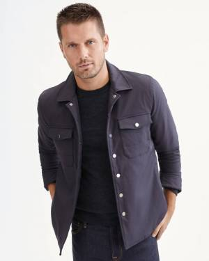 7 For All Mankind Tech Series Quilted Shirt Jacket