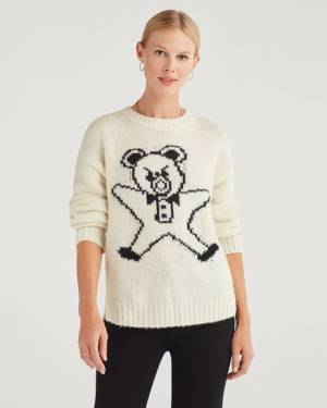 7 For All Mankind Step Hem teddy Sweater
