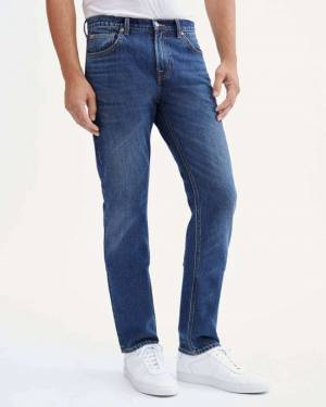 7 For All Mankind The Straight Reinforced Back Pocket in Juniper