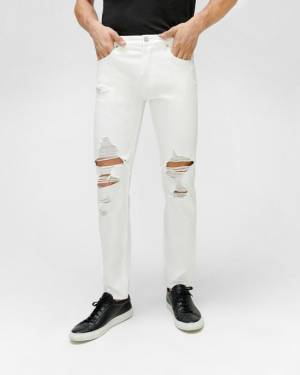 7 For All Mankind Paxtyn Skinny with Distressing in White