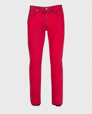 7 For All Mankind Skinny Paxtyn with Released Hem in Red