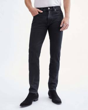 7 For All Mankind Paxtyn in Black On Indigo