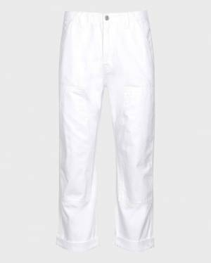 7 For All Mankind Work Pant in White