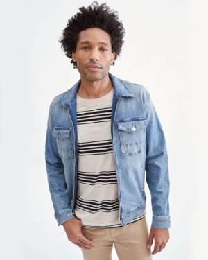 7 For All Mankind Denim Jacket in Calypso