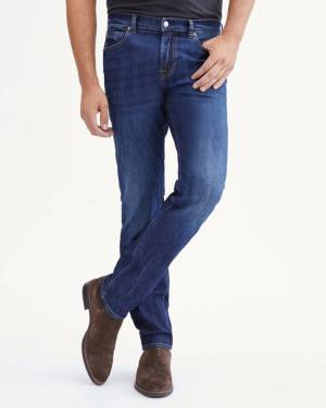 7 For All Mankind Airweft Slimmy Tonal Squiggle in Ironwood