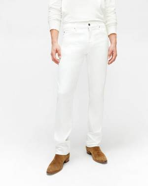 7 For All Mankind Luxe Performance Slimmy with Clean Pocket in White