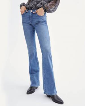 7 For All Mankind B(air) Silk Kimmie Bootcut in Perry