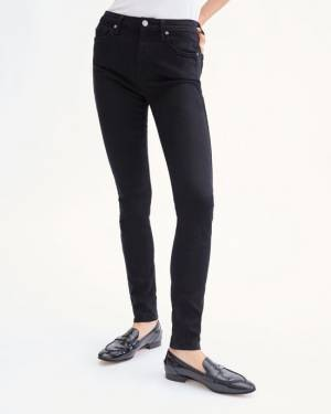 7 For All Mankind Slim Illusion Luxe High Waist Skinny in Black