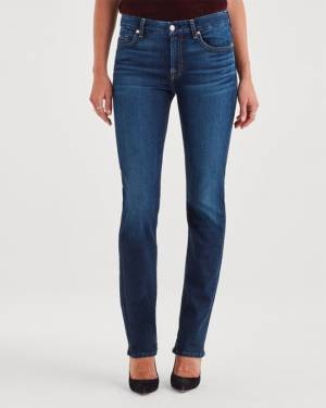 7 For All Mankind B(air) Denim Kimmie Straight in Fate
