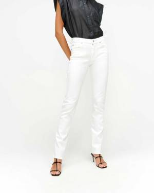 7 For All Mankind Slim Illusion Kimmie Straight in Luxe White
