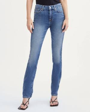7 For All Mankind Slim Illusion Kimmie Straight in Cass Blue