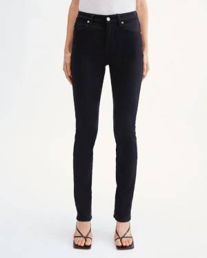 7 For All Mankind Slim Illusion Kimmie Straight in Black