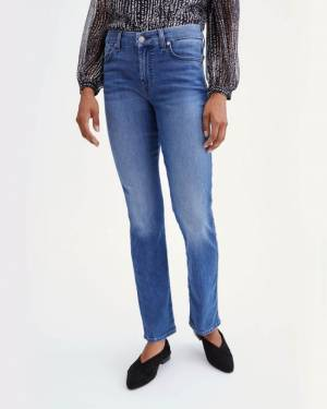 7 For All Mankind B(air) Denim Kimmie Straight in Atlantic