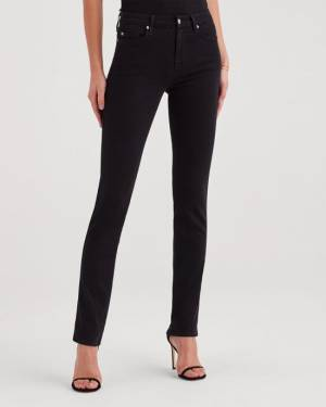 7 For All Mankind B(air) Denim Kimmie Straight in Black