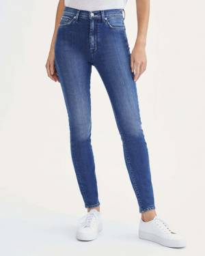 7 For All Mankind High Waist Skinny in Dark Winona