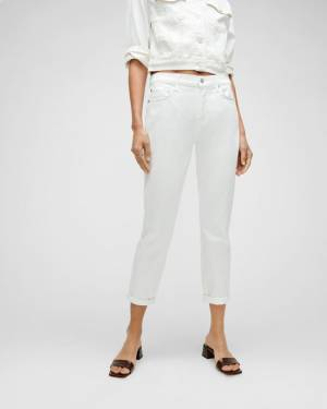 7 For All Mankind Luxe Vintage Josefina in Broken Twill White