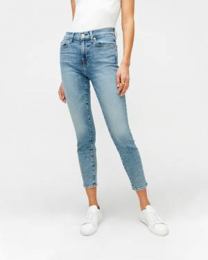 7 For All Mankind Luxe Vintage Mid Rise Ankle Skinny in Sloane Vintage