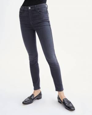 7 For All Mankind B(air) Denim High Waist Ankle Skinny in Evening Grey