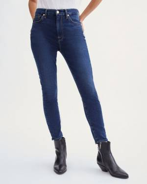 7 For All Mankind B(air) High Waist Ankle Skinny in Mimosa Blue