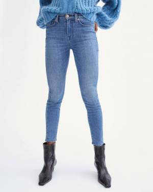 7 For All Mankind B(air) Silk Denim Ankle Skinny in Perry