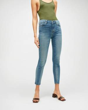 7 For All Mankind B(air) Denim Ankle Skinny in Amazing Heritage