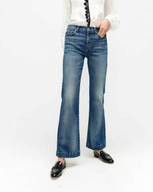 7 For All Mankind Luxe Vintage Tailorless Dojo in Distressed Authentic Light
