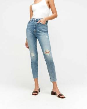 7 For All Mankind Luxe Vintage High Waist Ankle Skinny in Sloane Vintage