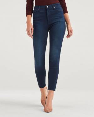 7 For All Mankind Slim Illusion Aubrey in Twilight Blue