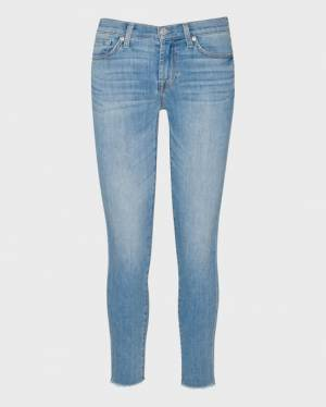 7 For All Mankind B(air) Ankle Skinny with Frayed Hem in Ashcroft